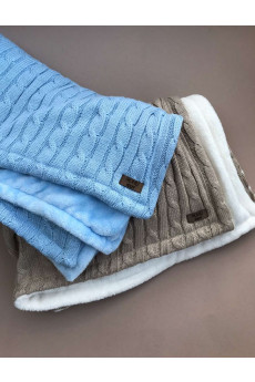 Теплый вязаный двусторонний плед для малышей Mary Knit
