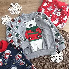 новогодняя и рождественская одежда для малышей девочек и мальчиков
